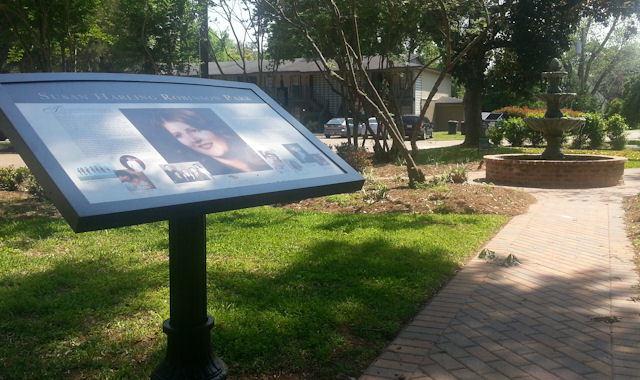 Dedication of the Susan Harling Robinson Memorial Garden