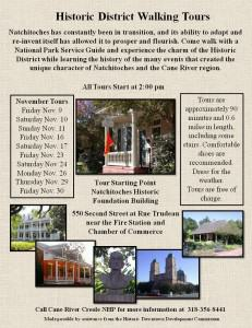 Historic District Walking Tours being offered in November