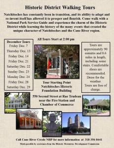December dates announced for the Historic District Walking Tours
