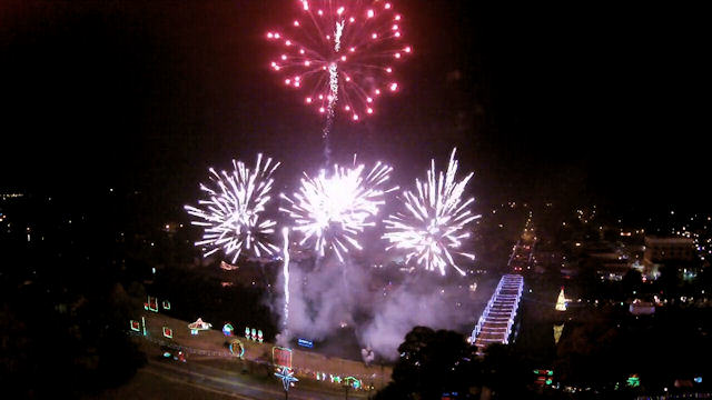 Aerial Video of Fireworks in Natchitoches