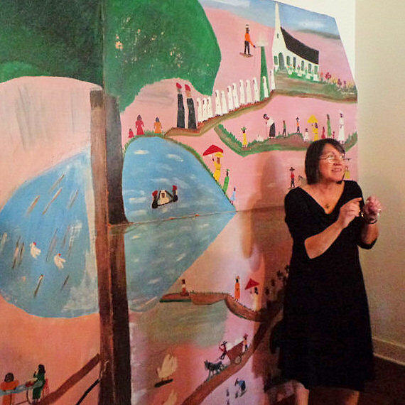 """Photos from the """"Clementine Hunter – Making a Mark"""" Exhibit"""